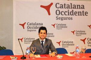 Imagen de un ponente en el congreso de Catalana Occidente